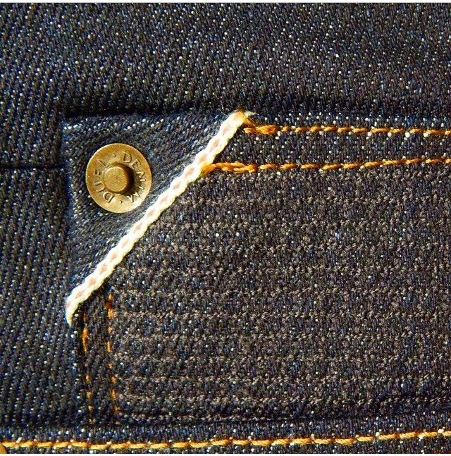 Cut and Sew Corner Selvage with Honey Comb Coin Pocket