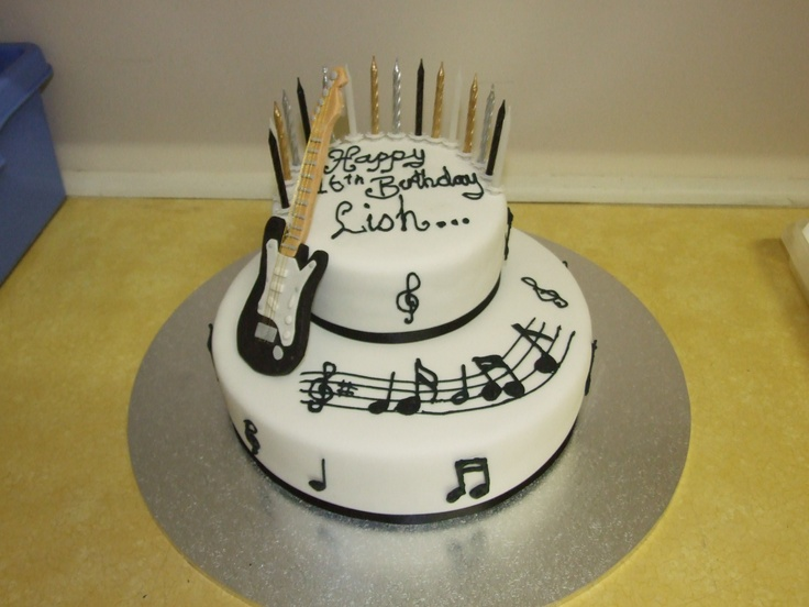 Rock 'n' Roll guitar Cake