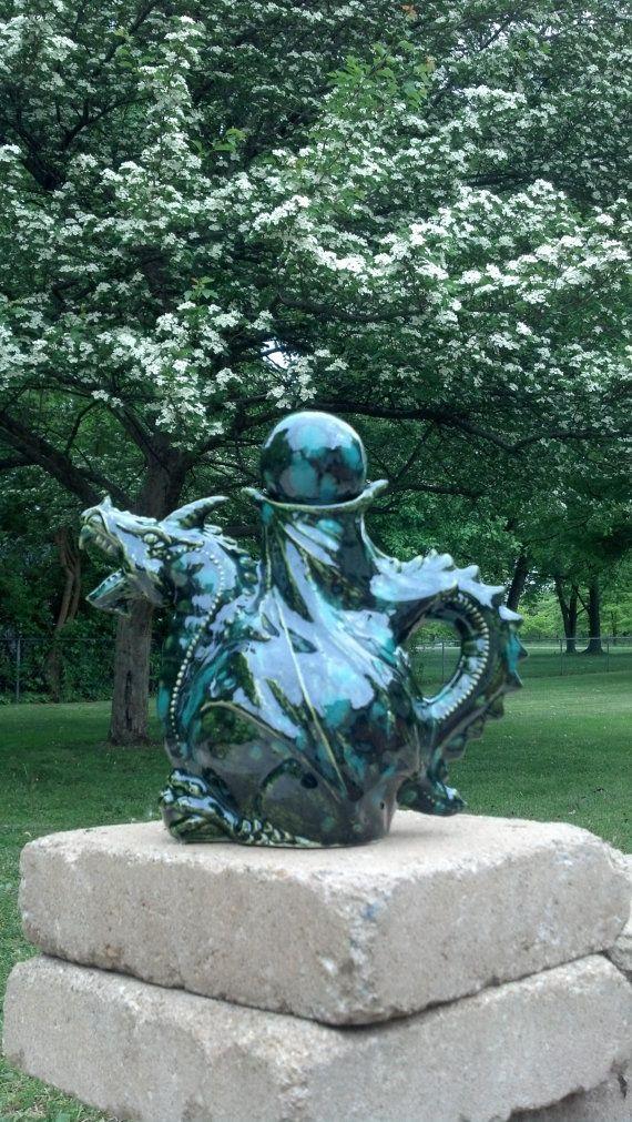 Emerald Dragon Tea Pot via Etsy For Alice