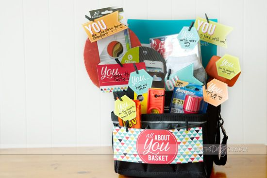 All About You teacher gift basket