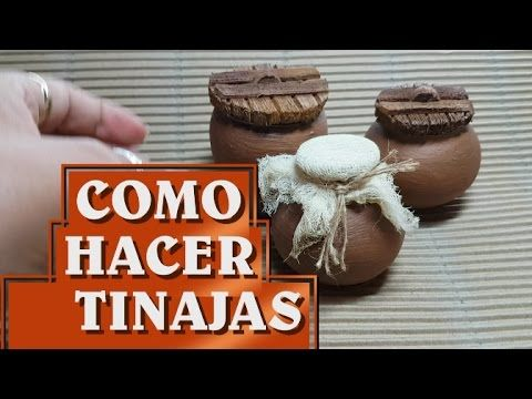 Como hacer tinajas de barro con botellas - YouTube