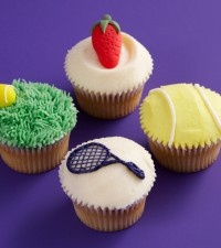 Get into the swing of the season with these wimbledon tennis cupcakes