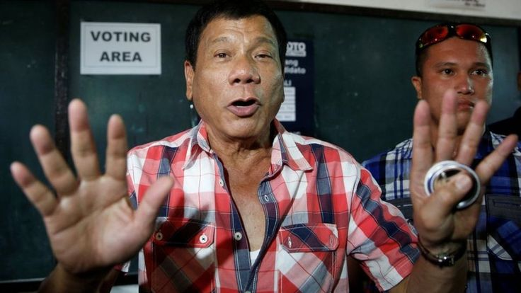 In the Philippines, Mayor Rodrigo Duterte claims victory at a landslide. Mr Duterte has been the long-time front-runner in a campaign also driven by the economy and corruption.