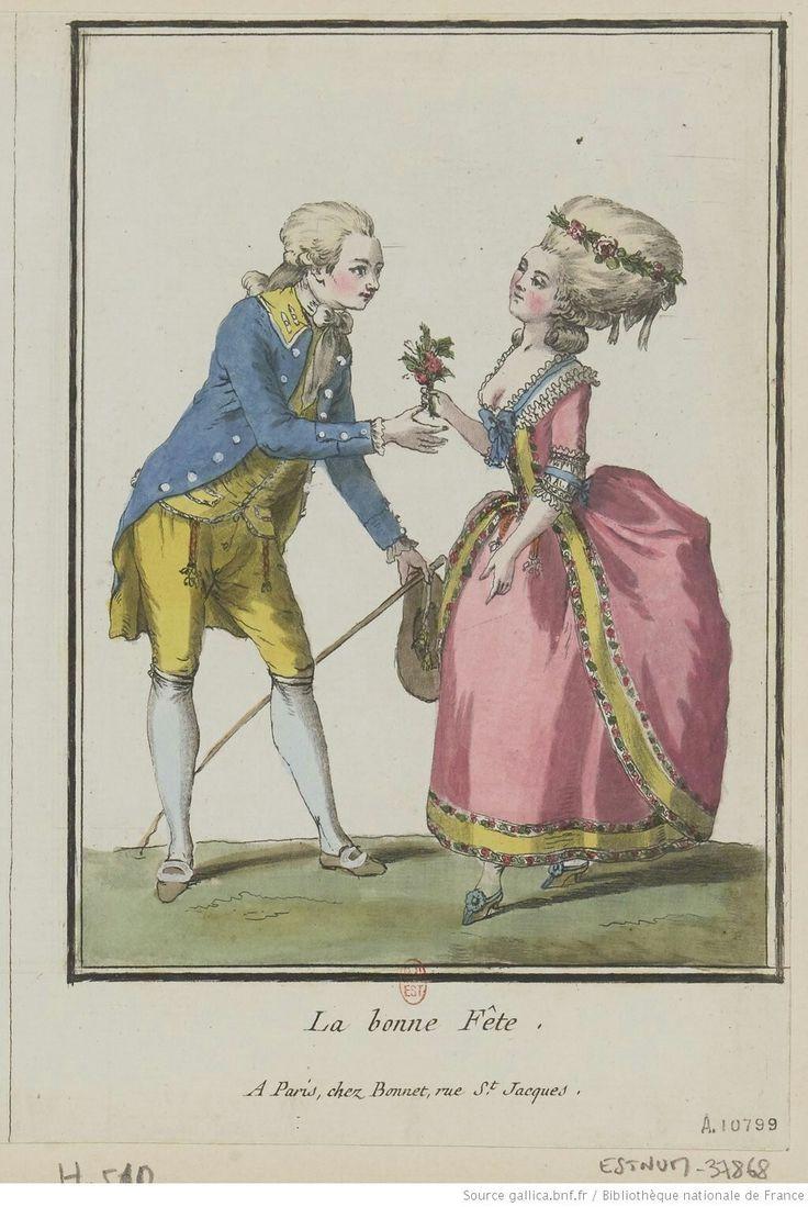Titre:La Bonne fête : [estampe] / C. L. Desrais del. ; [Louis-Marin Bonnet] Auteur:Bonnet, Louis-Marin (1743-1793). Graveur Auteur:Desrais, Claude-Louis (1746-1816). Dessinateur du modèle