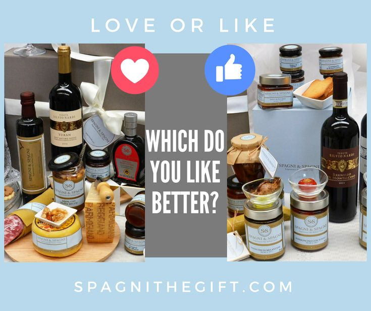 CHOOSE YOUR FAVOURITE  😊 WHICH DO YOU LIKE BETTER? LOVE OR LIKE #spagniexperiencetheitaliantaste #loveorlike #foodideas #foodgift #chooseyourfavourite  🔔Join Us  😉 https://goo.gl/Ev61gl  🔔