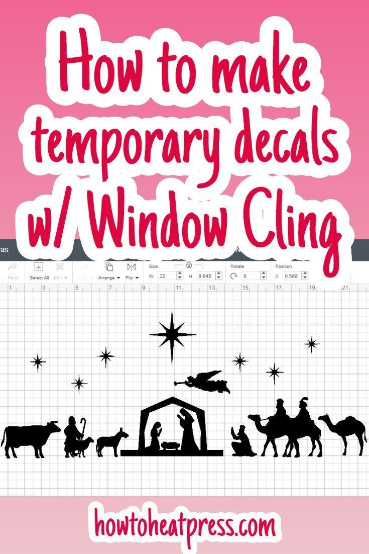 Cricut Window Cling Make Custom Window Clings Review Window Clings Cricut Projects Vinyl Custom Window Clings