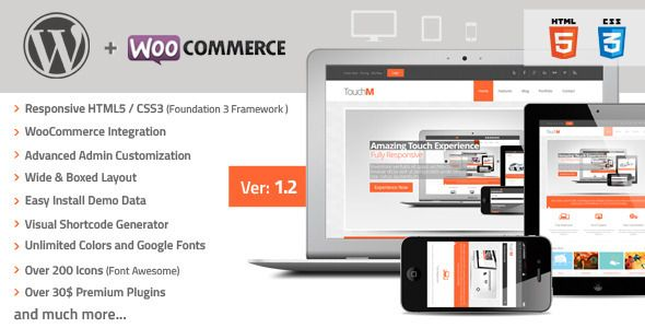 Version 1.2 Available Now - TouchM Wordpress Responsive WooCommerce Premium Theme