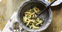 Ontario Asparagus and Ham Pasta May and June