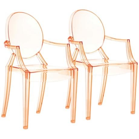 A Subtle Way To Introduce Tangerine Tango To Your Home   A Sleek Pair Of  Transparent. Acrylic FurnitureTangoDining ChairsLp