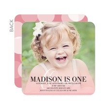 Best First Birthday Party Images On Pinterest First Birthdays - Birthday invitation 1 year old baby girl