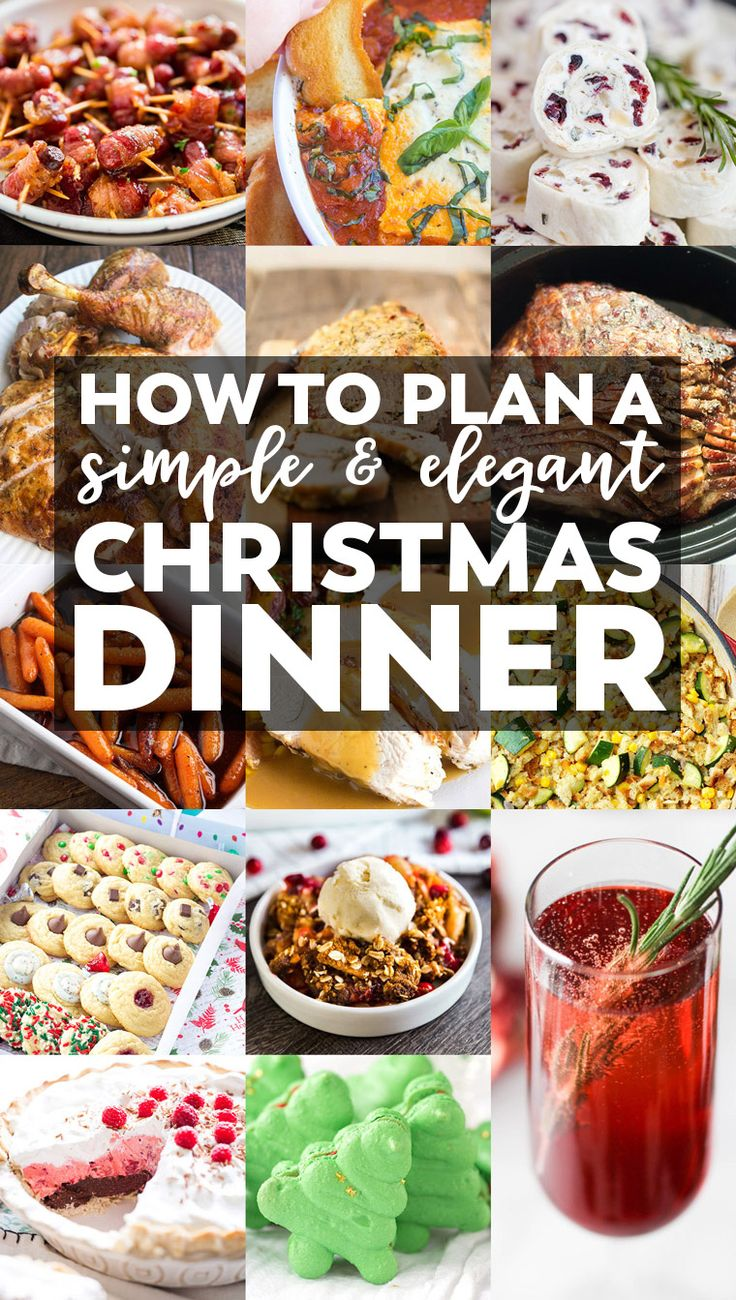 No matter if you are a gracious host or a grateful attendee, you'll find something special on this Simple & Elegant Christmas Dinner Menu.