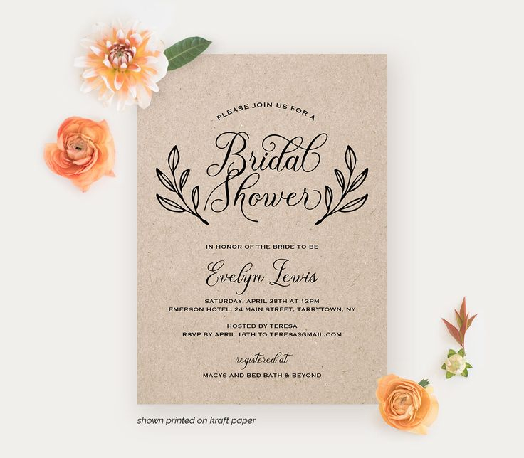 34 best Wedding Invitations by MP images on Pinterest Wedding - bridal shower invitation templates download