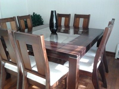 Best 25 comedores de 8 sillas ideas on pinterest for Juego de comedor moderno de 8 sillas