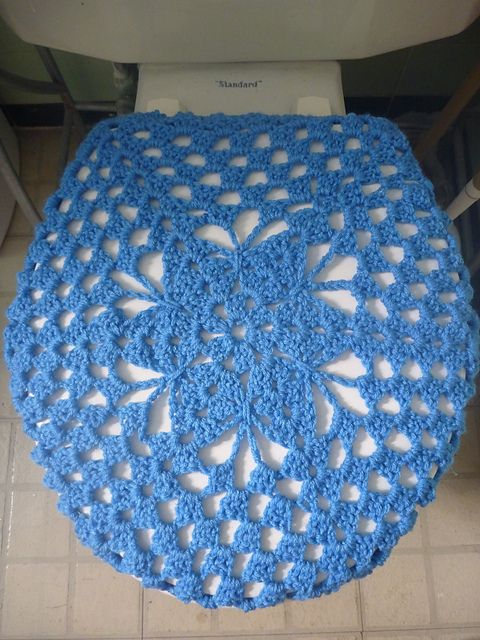 Ravelry: free pattern for Shell Toilet Seat Cover