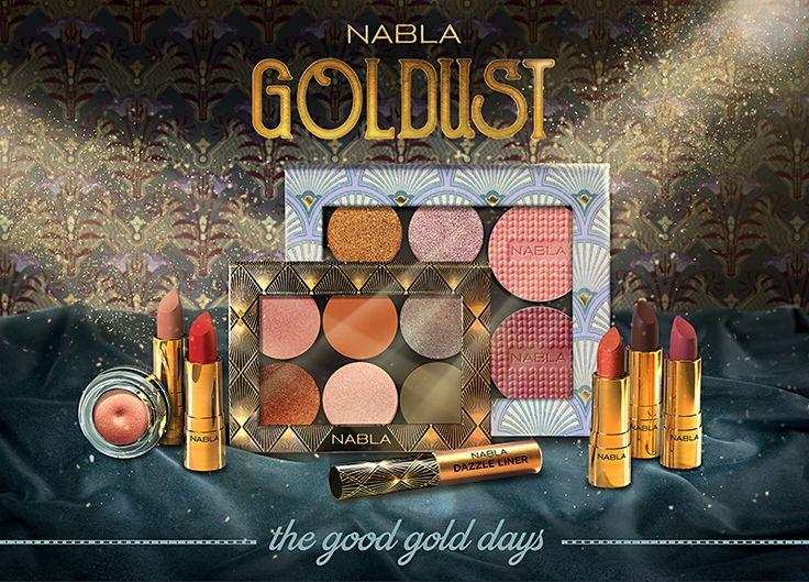 Nabla presenta una nuova collezione: GOLDUST, che debutterà giovedì1dicembre2016 sul loro sito. Vediamo insieme i singoli pezzi! Klimtè un eyeliner oro rosso, delicatamente duochrome dalla pigm…