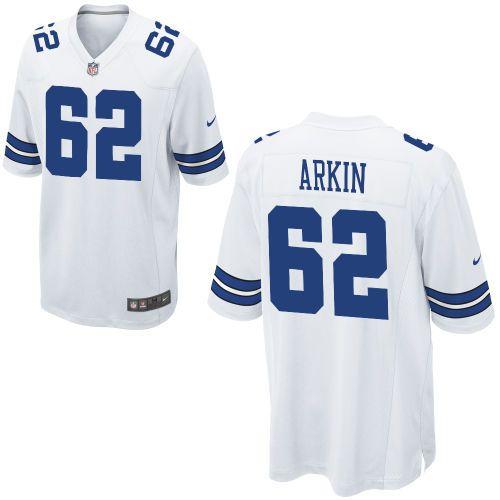 Men Nike Dallas Cowboys David Arkin Game 62 White Jersey for Sale Sale