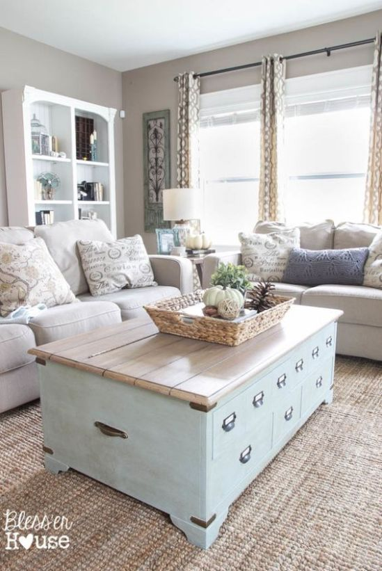 Neutral Living Room Coffee Table