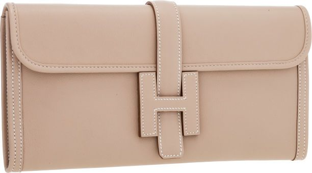 Hermes Argile Swift Leather Jige Elan H Clutch Bag | Handbags ...