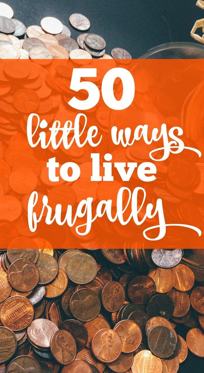 Want to learn how to save money and start living frugally? Living a frugal lifestyle doesn't have to mean making huge, drastic changes. Here are 50 little ways to live frugally and pinch those pennies!