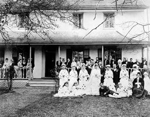 Wedding of Martha Douglas, James and Amelia's youngest daughter, and Dennis Reginald Harris 1878