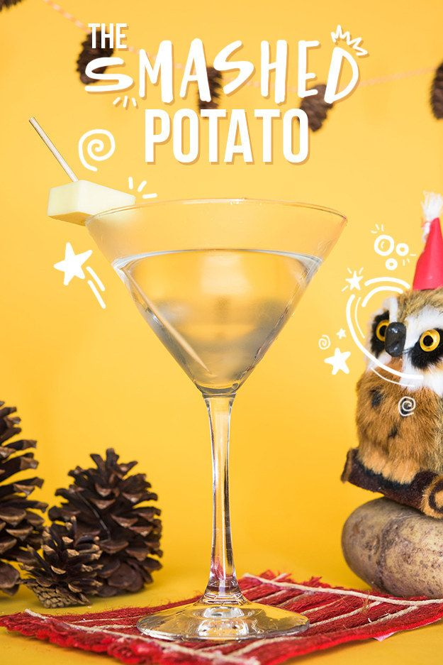 And what would this holiest of food holidays be with out mashed potatoes? Vodka is made from potatoes. Close enough. | How To Turn Classic Thanksgiving Foods Into Boozy Cocktails
