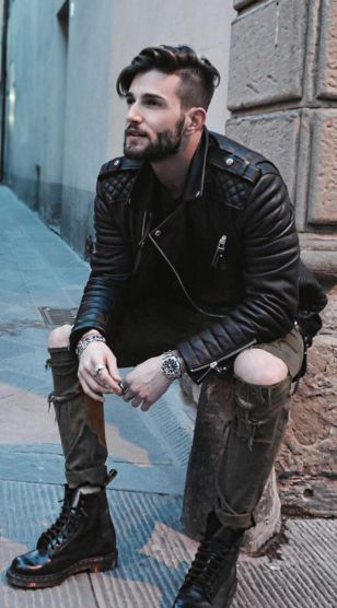 mens fashion ripped jeans denim