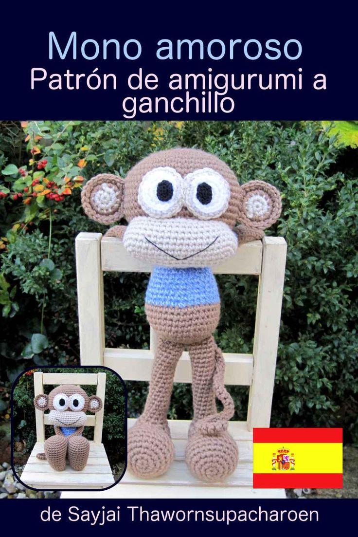 Amigurumi Tutorial Mono : Amazon.com: Mono amoroso. Patron de amigurumi a ganchillo ...