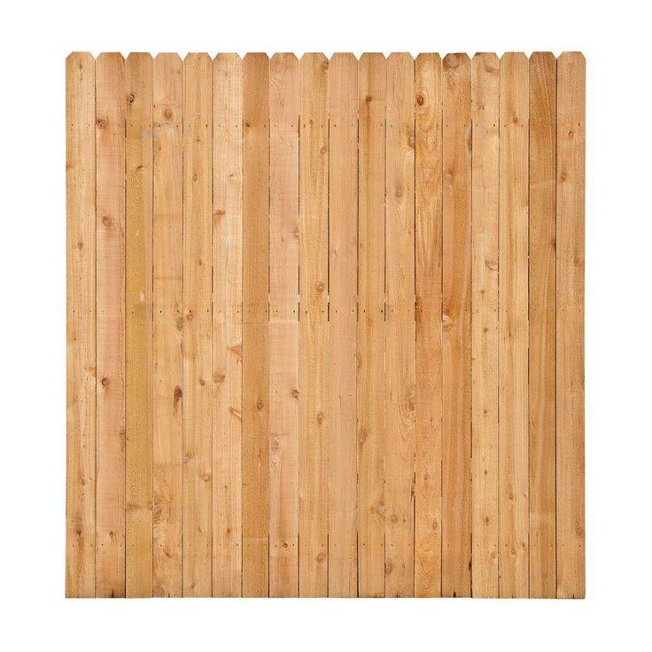 6 Ft X 6 Ft Western Red Cedar Dog Ear Fence Panel Kit