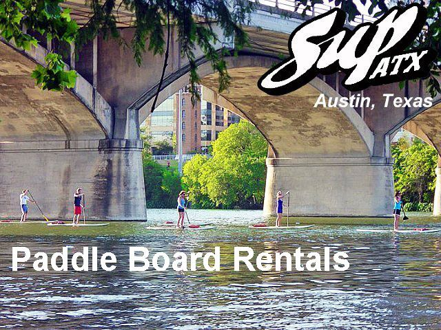 SUP ATX Stand Up Paddle Board Rentals, Austin, TX. $15 per hour, $35 all day! Weekends: $20 per hour, $40 all day! - Located on Lady Bird Lake (formerly Town Lake) on the hike & bike trail between Mopac and Lamar Blvd.