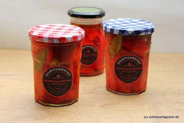 Schöner Tag noch!: Nachgemacht: marinierte geröstete Paprika im Glas