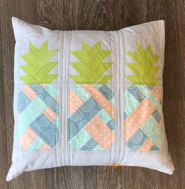Pineapple Farm Pillow Kit - Blueberry Park Fabric
