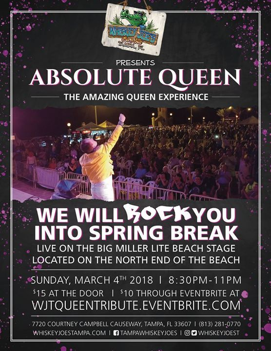 Come see us at the beautiful WJ Beach Bar! The weather is incredible and so is the music line up! Check it out!  Tonight: Crystal Blue 7P-11P Saturday: Fast 4Ward 7P-11P Sunday: Deja 5P-9P  Don't forget the best QUEEN Tribute in the country will be here March 4! Make plans now! #rangloo, #bar, #accessories