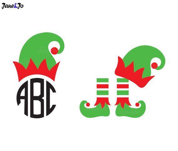 Elf Hat Svgelf Feet Svgchristmas Monogram Svgchristmas Etsy In 2020 Christmas Monogram Elf Hat Monogram Svg