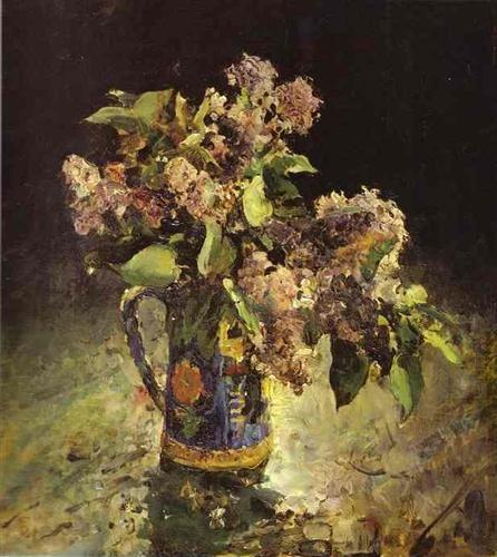 Lilacs in Vase - Valentin Serov