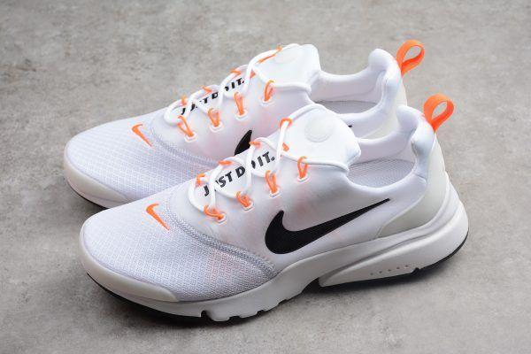 online store 27e10 2dc96 Buy Mens Nike Presto Fly Just Do It White Black Orange AQ9688-100-3