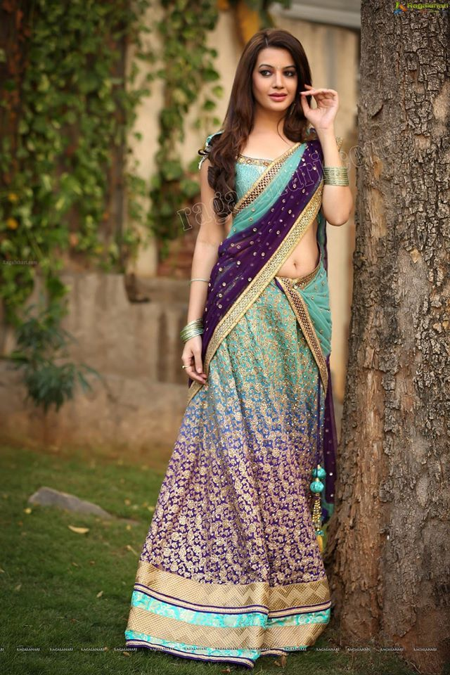 deeksha panth in half sari