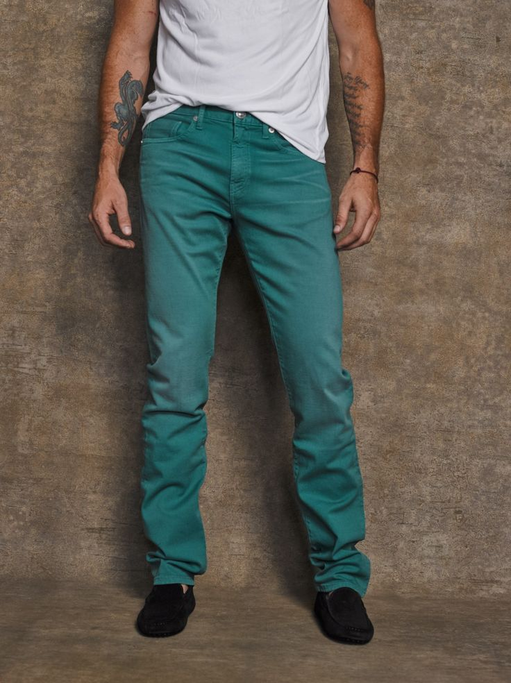 #PickOfTheDay Winter doesn't mean boring! Get these GM Thompson Slim Straight jeans to add a splash of color to your wardrobe.   Shop here: http://bit.ly/1yLoPDV
