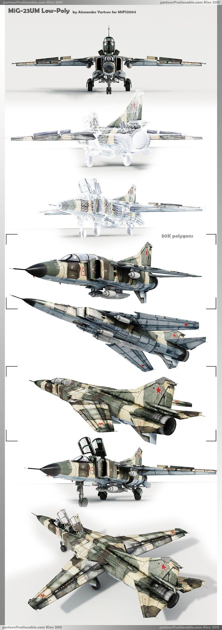 MiG-23UM low-poly