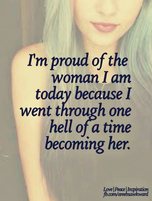 One day soon I will be able to say this