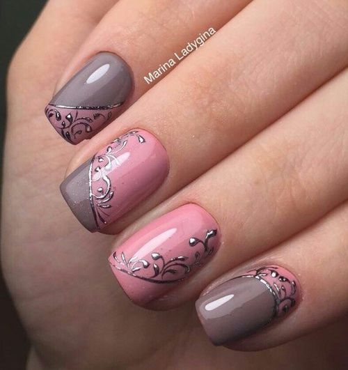 320 best images about nails on pinterest nail art designs pink and taupe nail design love the white highlight details prinsesfo Image collections