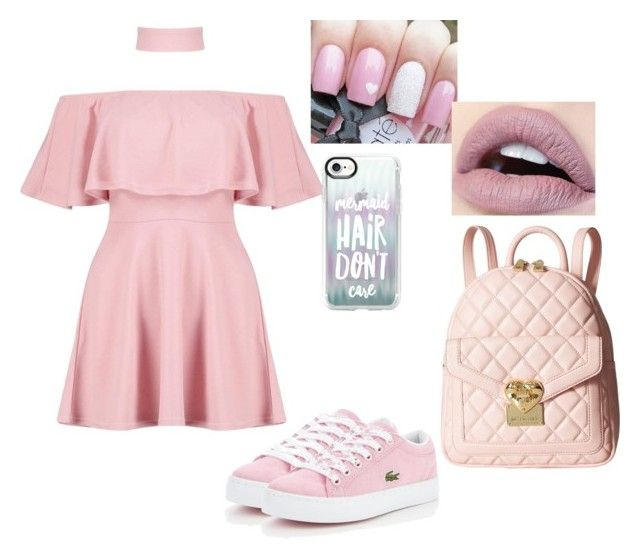 """""""Untitled #64"""" by almendratonta ❤ liked on Polyvore featuring Boohoo, Casetify, Lacoste and Love Moschino"""