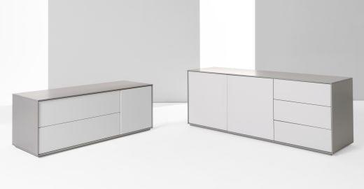 Stretto Lowboard, Grau ► Modernes Design für mehr Ordnung daheim! Entdecke jetzt Aufbewahrungsmöbel bei MADE.