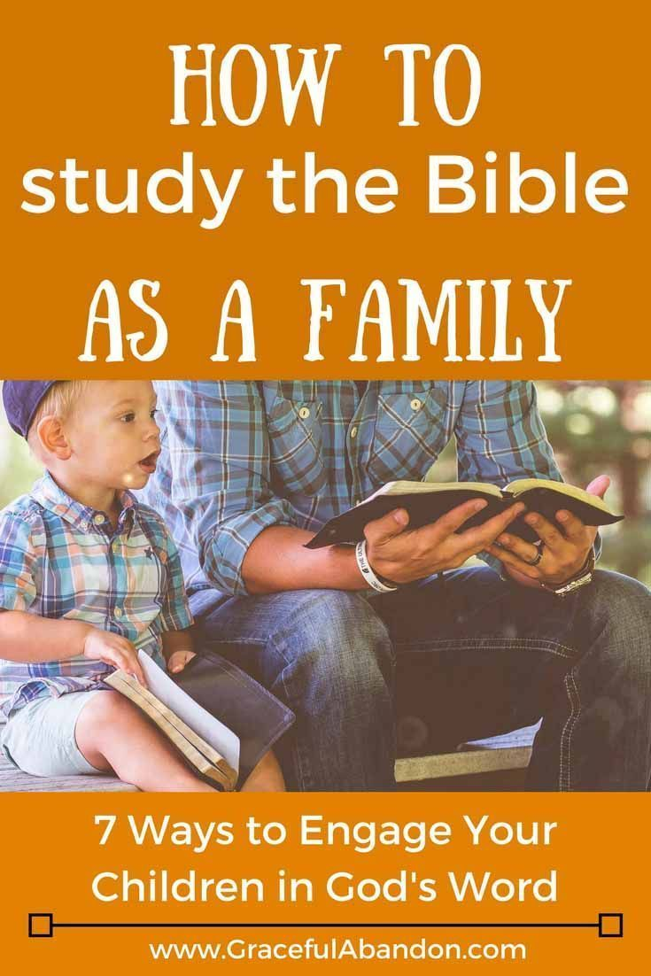 Ever wonder how to study the Bible as a family? Family devotions can be  hard to figure out at first, but these 7 tips will show you how to engage  your ...