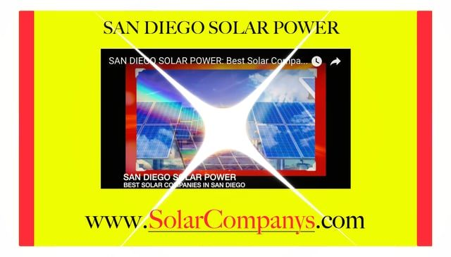 434-939-7366 Solar Companies San Diego:  Solar Costs, Installers, Best Solar California http://solarcompanys.com  A household rooftop solar panel system can reduce pollution by 100 tons of CO2 in its lifetime — including the energy it took to manufacture the solar panels. This can improve future air quality for humans as well as the millions of birds, fish, and mammals that are negatively affected by pollution each year.  Interesting Facts about Solar Energy:  China is the world's lead...