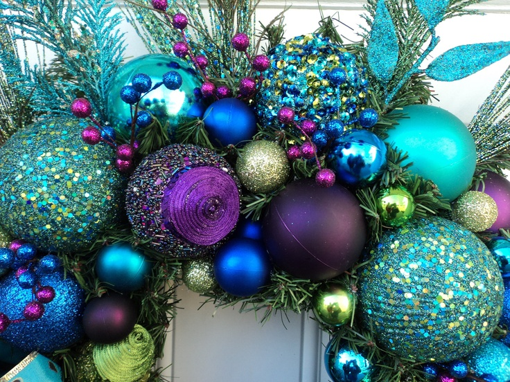 17 best ideas about peacock christmas decorations on - Peacock Blue Christmas Decorations
