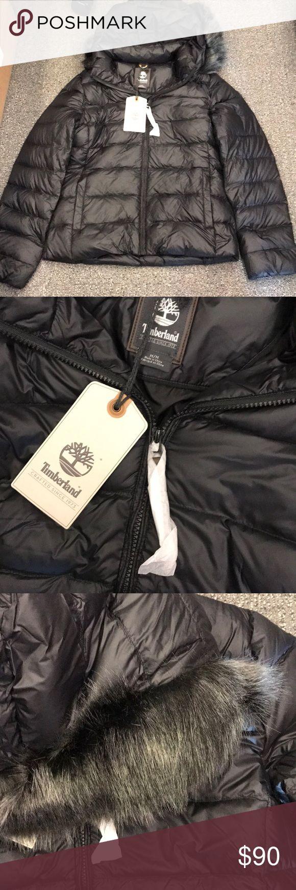 Timberland jacket Black Timberland Madison down jacket. Removable fur hood. Never worn! Tags still on. Timberland Jackets & Coats Puffers