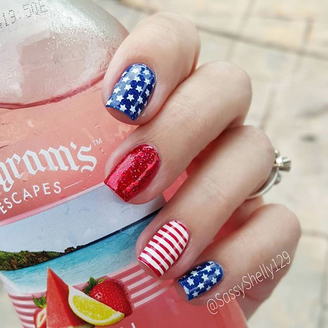 44 best 4th of July Nail Art Designs images on Pinterest | Nail art ...