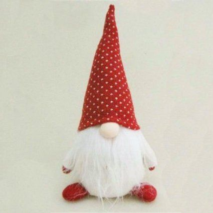 """AmazonSmile - 10"""" Red and White """"Hank"""" Chubby Sitting Santa Gnome Plush Table Top Christmas Figure -"""