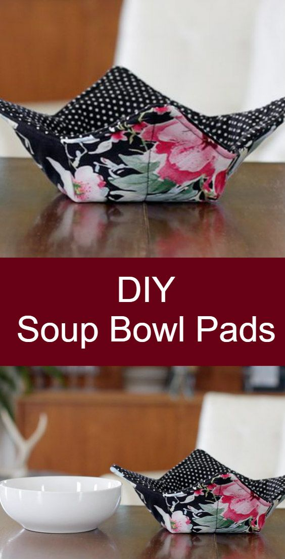 Make a Soup Bowl Pad for yourself or a gift. Easy to sew.