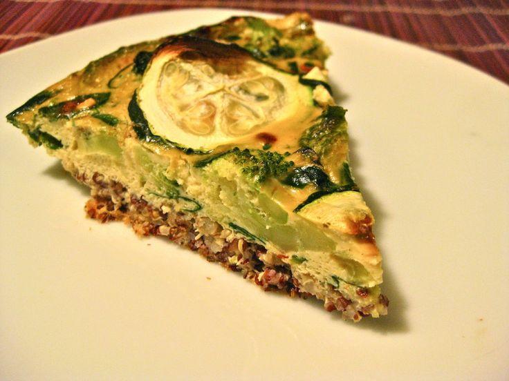 Quinoa-Crusted Quiche